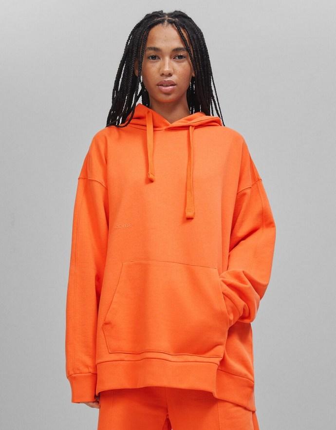 Φούτερ oversize σε τέλειο πορτοκαλί