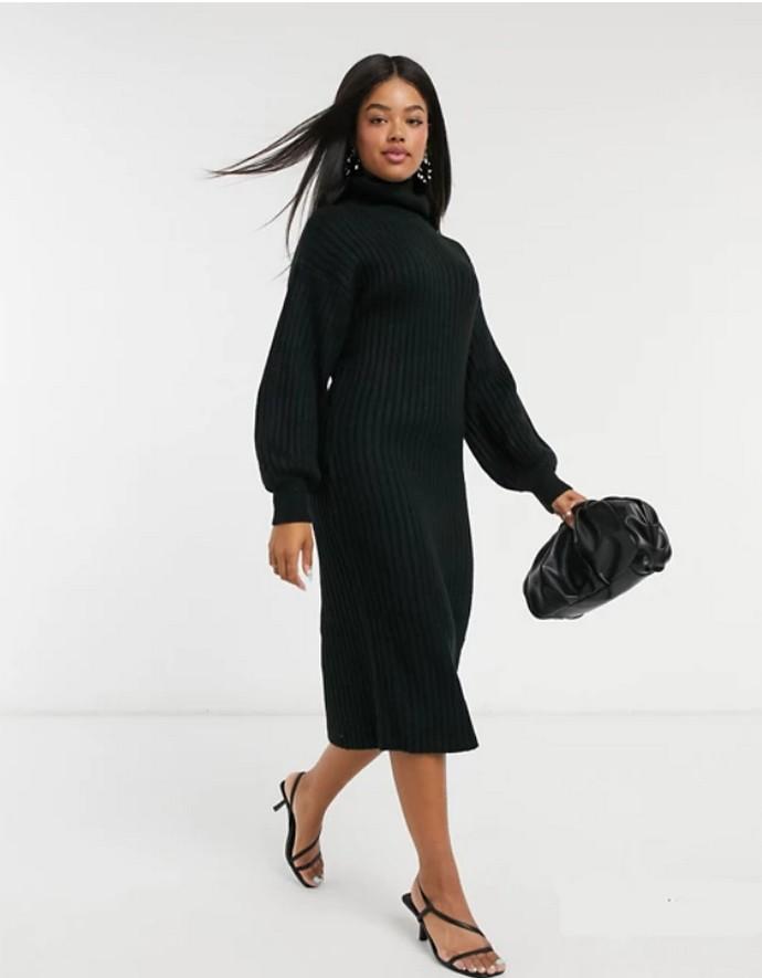 Rib φόρεμα ζιβάγκο