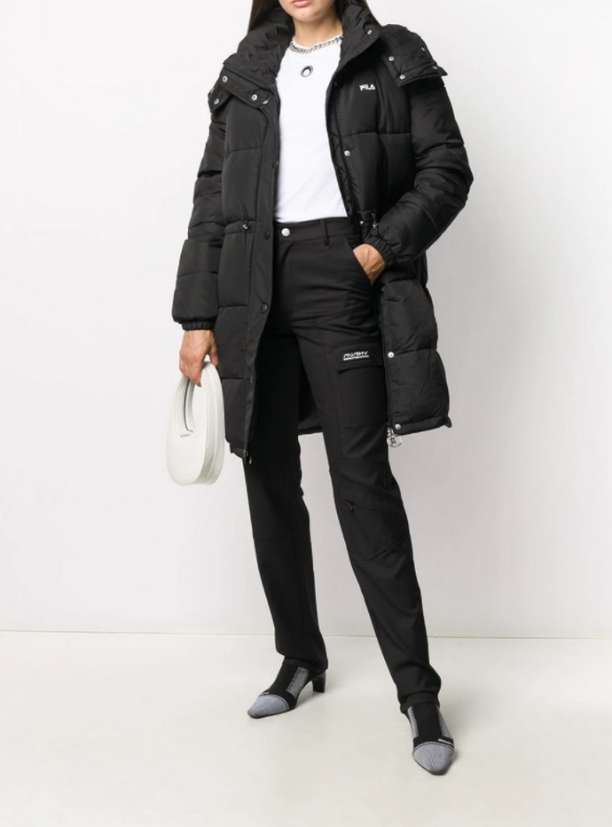 Puffer παλτό με κουκούλα