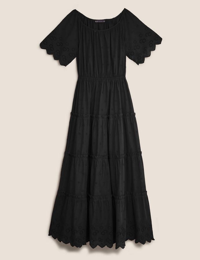 Μίντι φόρεμα με κεντήματα