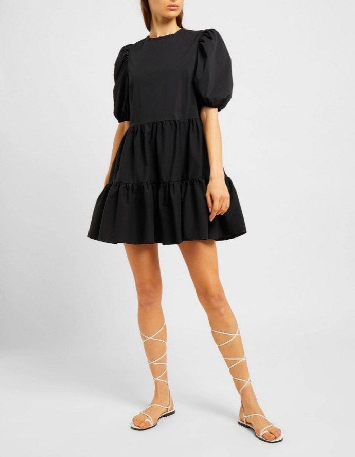 Mίνι φόρεμα με puffy sleeves