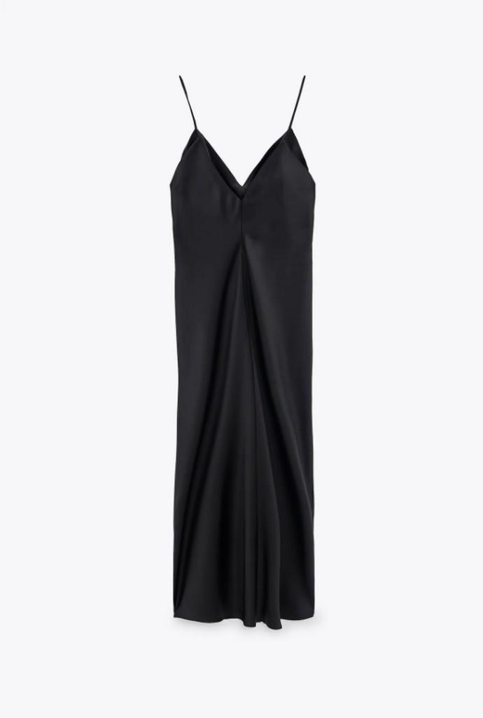 Σατέν camisole φόρεμα
