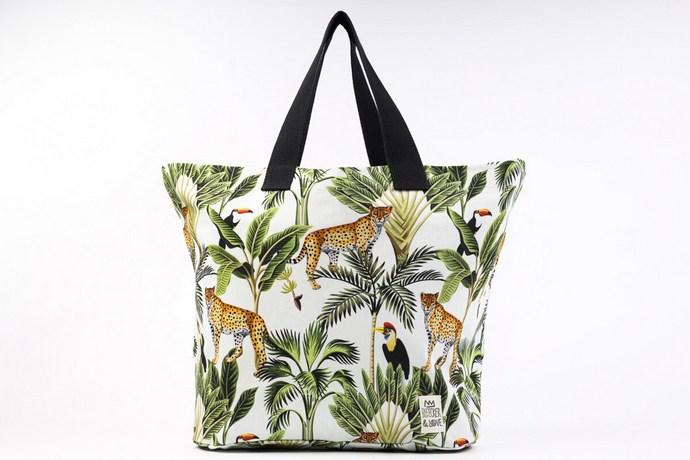 Jungle Beach Bag με αδιάβροχη επένδυση