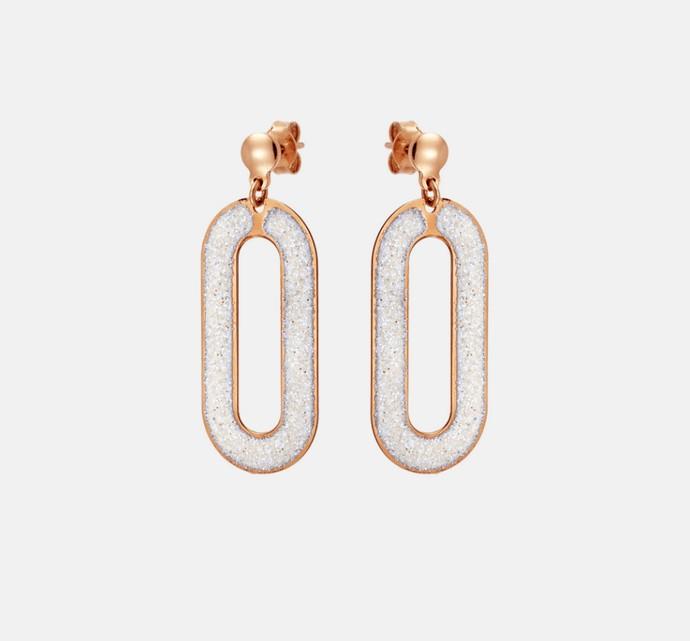 Σκουραλίκια με ροζ χρυσό 18Κ