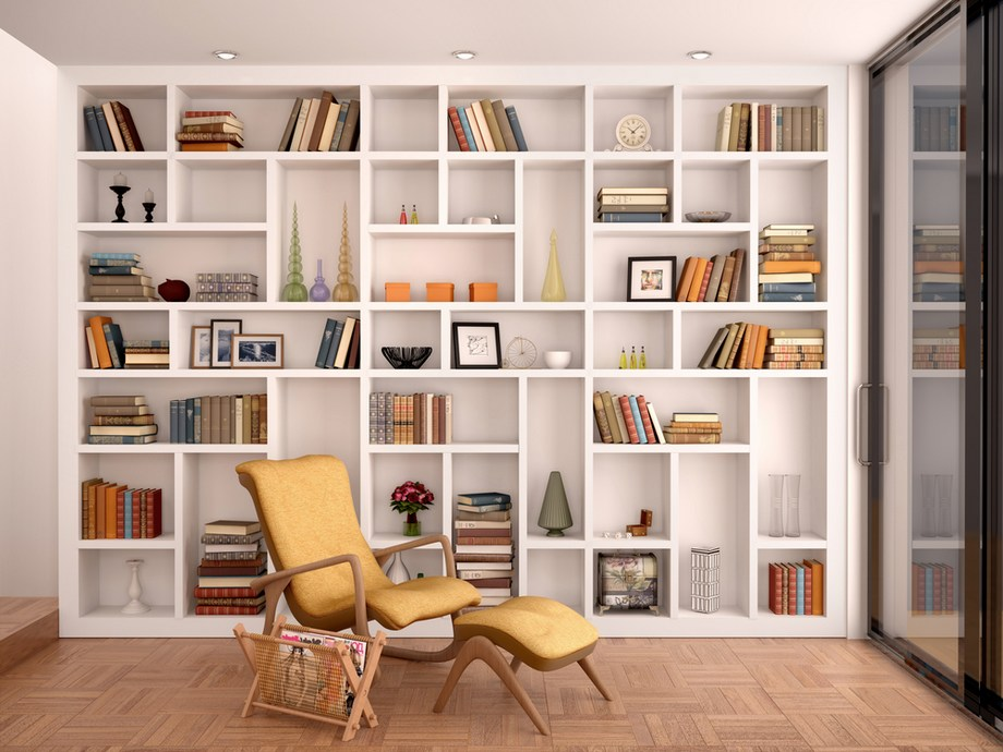 tips διακόσμησης βιβλιοθήκη