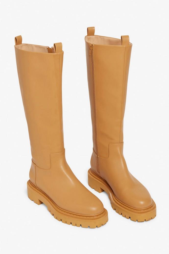 Faux δερμάτινα boots
