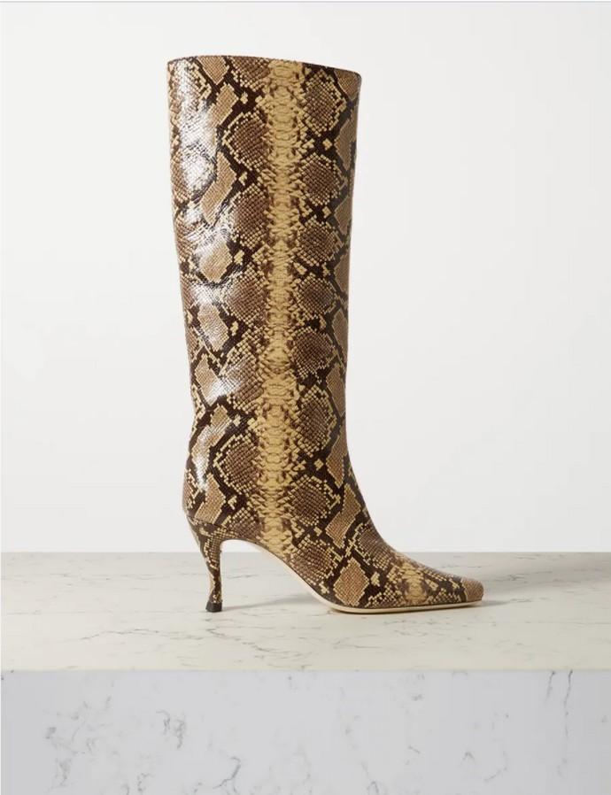 Snakeskin μπότες ως το γόνατο