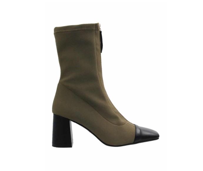 Sock boots με block heel