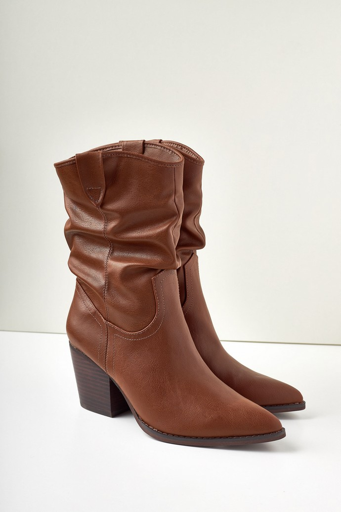 Western boots με τακούνι