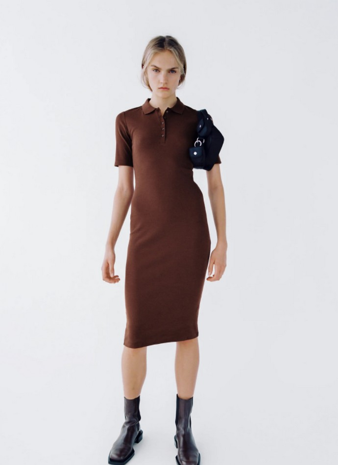 Polo πλεκτό φόρεμα