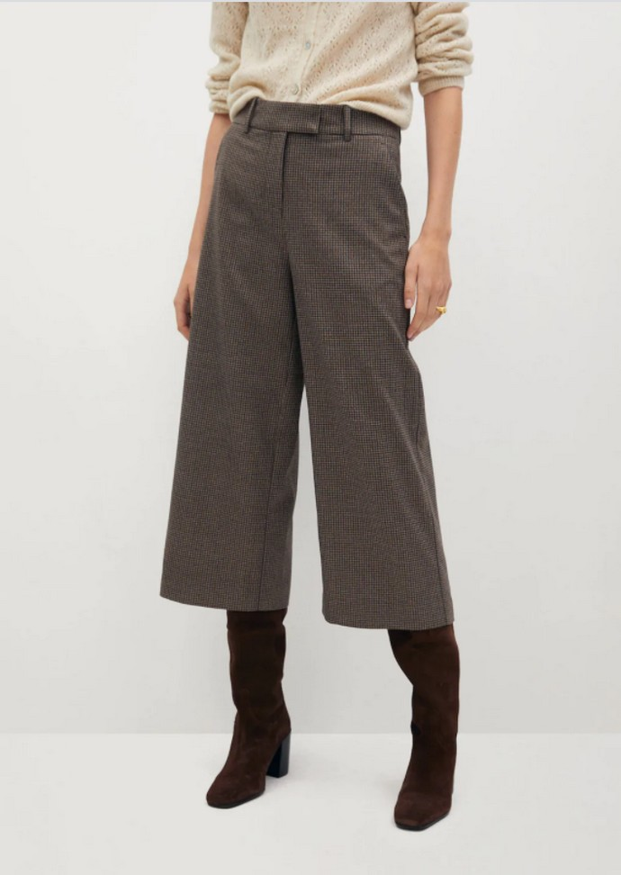 Παντελόνα culotte καρό