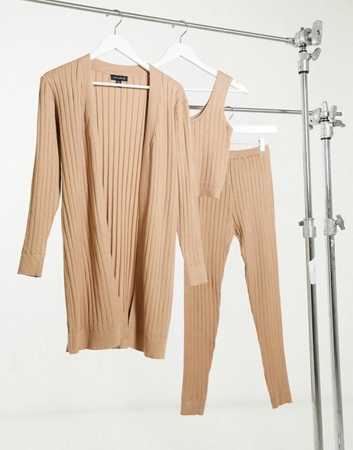 Σετ loungewear σε rib-knit
