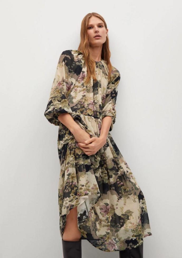 Φλοράλ ριχτό φόρεμα