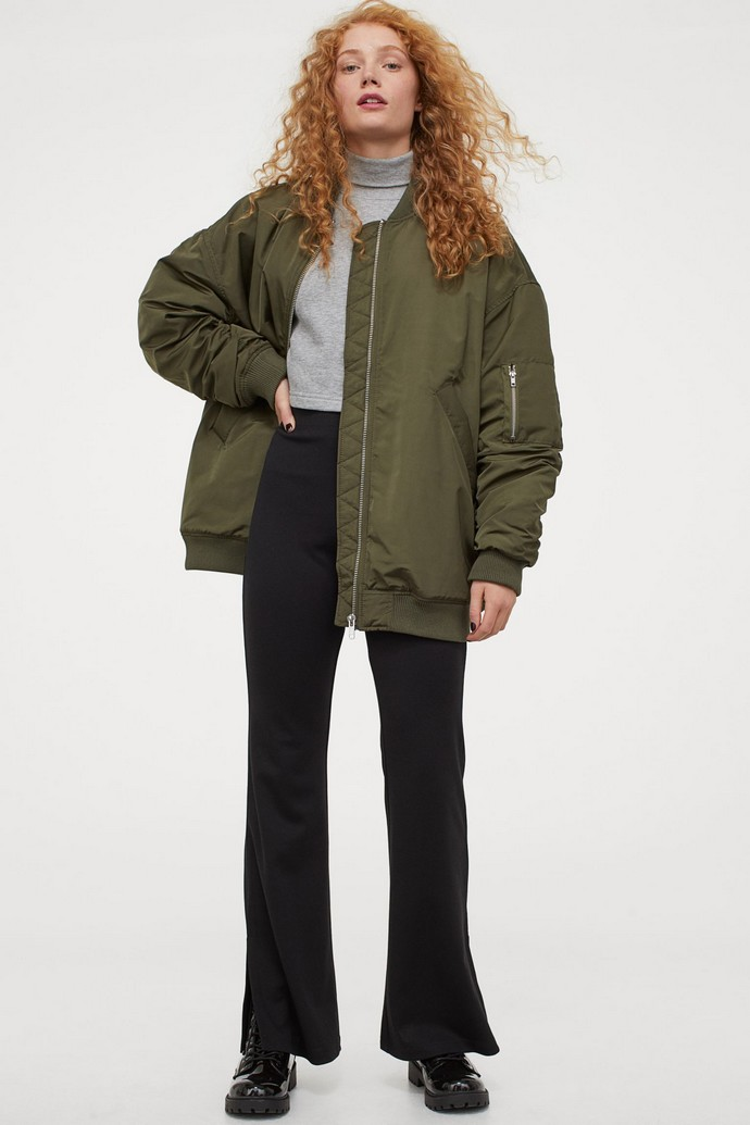 Μακρύ bomber jacket