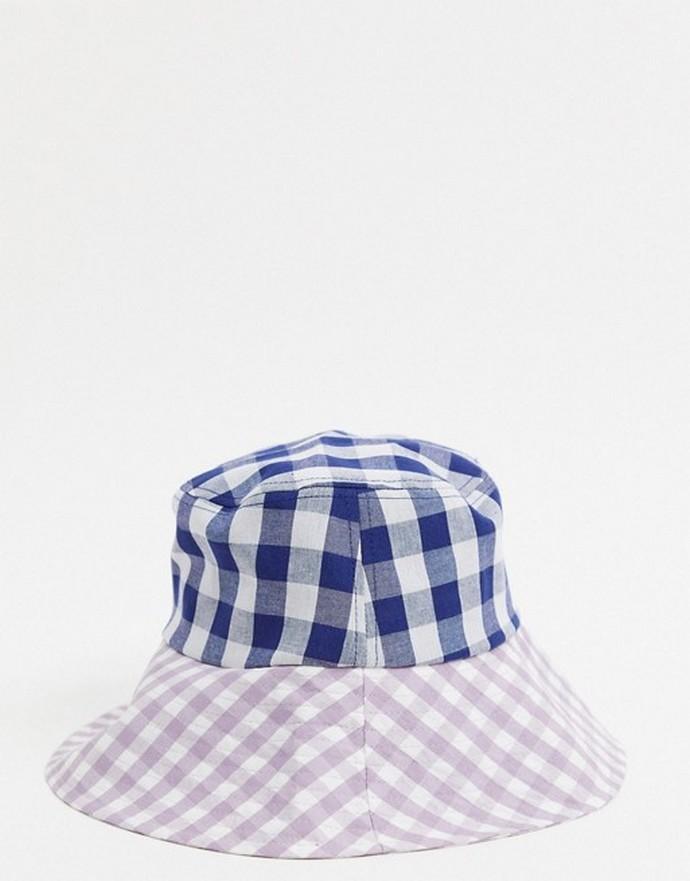 Καρό gingham bucket hat