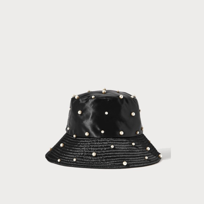 Σατέν καπέλο με πέρλες