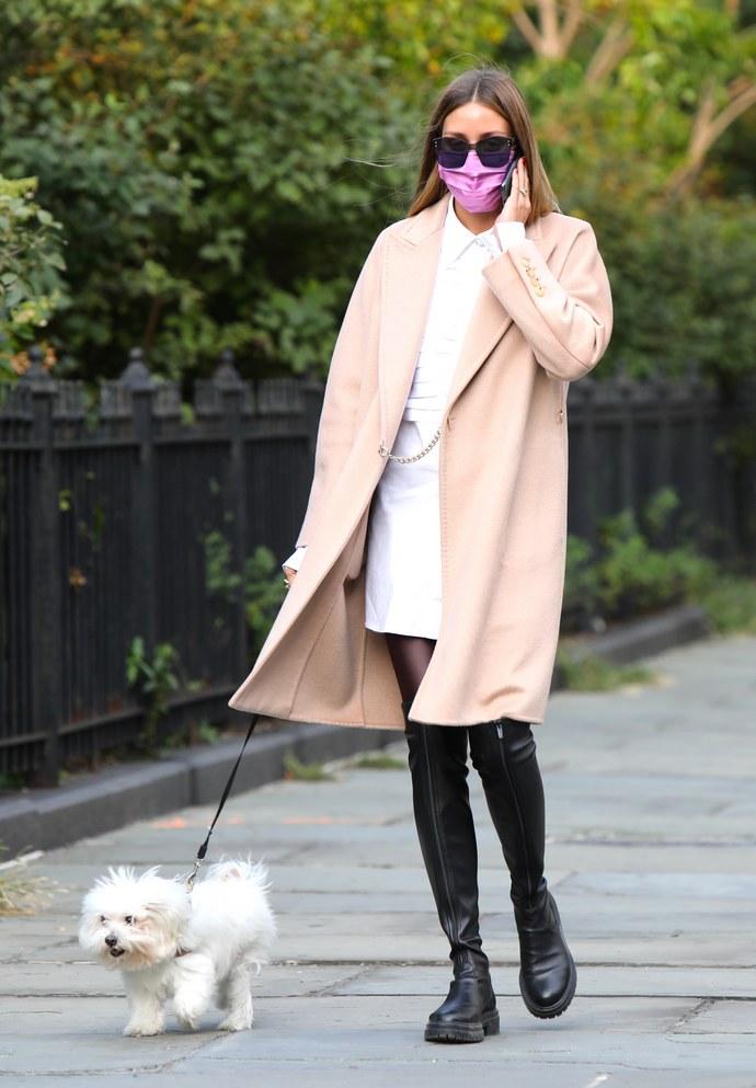 camel coat, Olivia Palermo