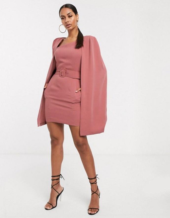 Cape dress με ζώνη