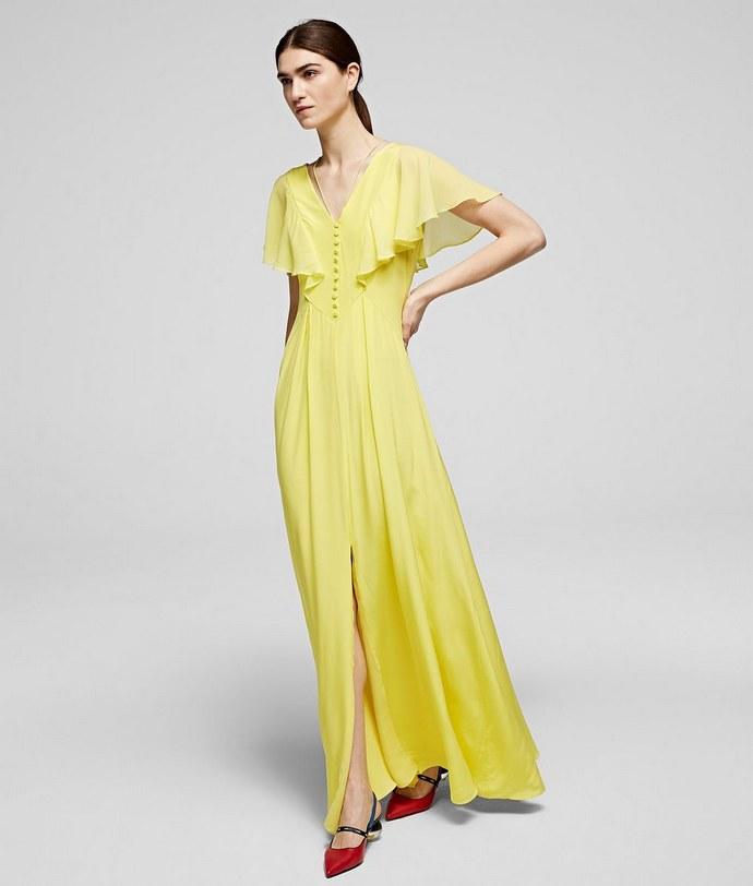Φόρεμα με cape εφέ μανίκια