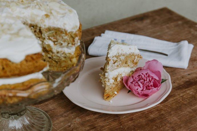 Συνταγή για carrot cake από την Υβόννη Μπόσνιακ