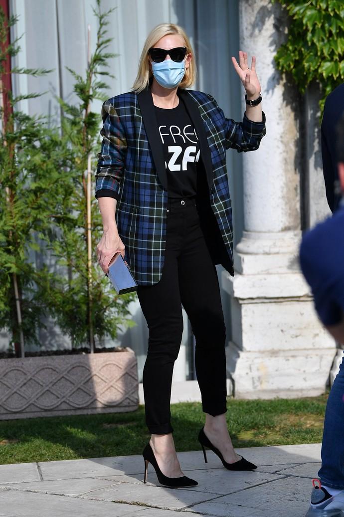 καρό σακάκι της Cate Blanchett