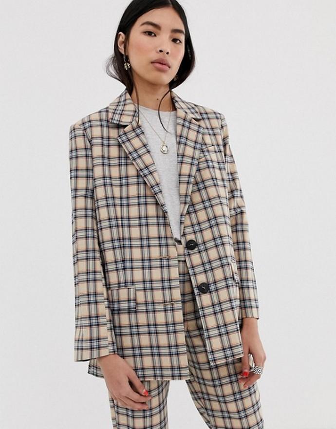 Καρό σακάκι κοστουμιού