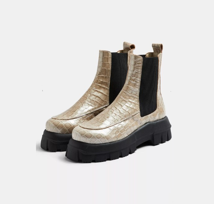 Chelsea boots σε animal print