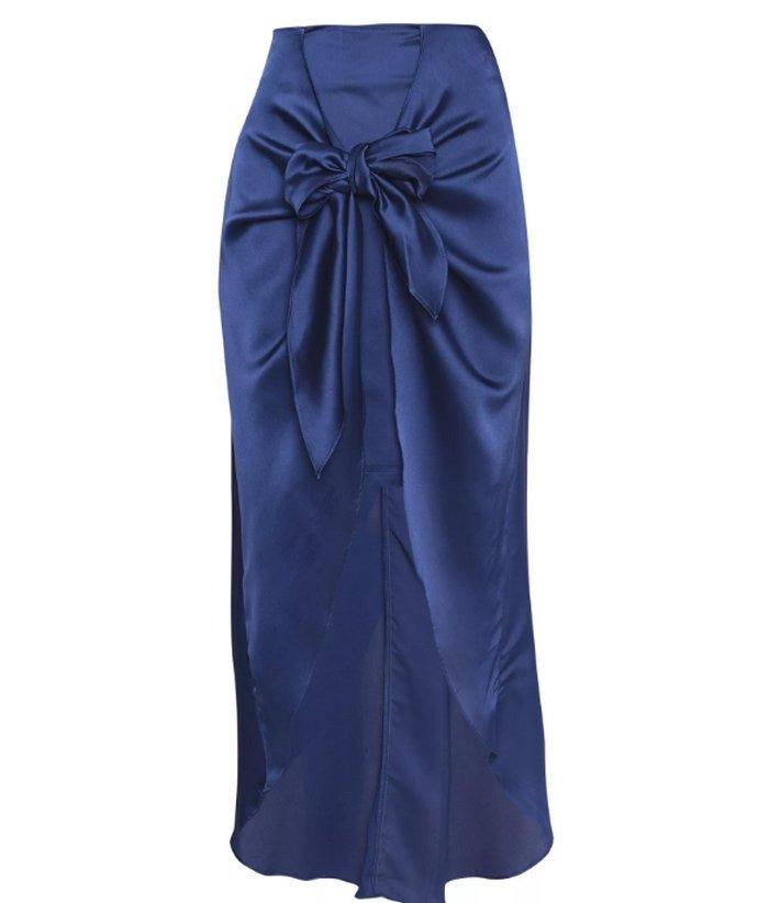 Σατέν φούστα κρουαζέ