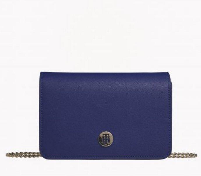 κλασσικό μπλε τσάντα