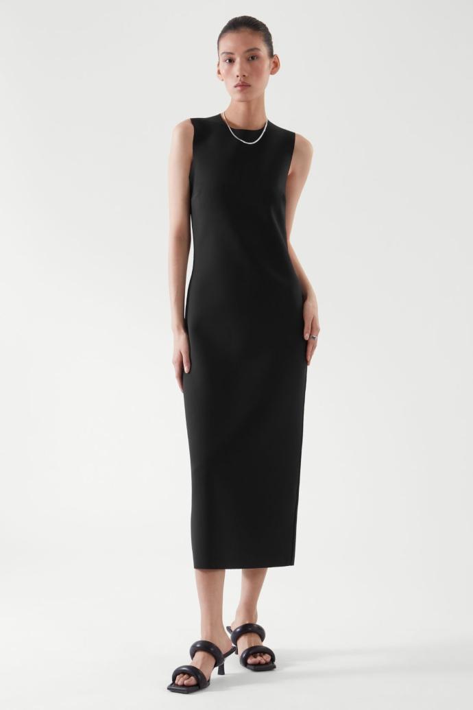 μίντι φόρεμα σε ίσια γραμμή από ανακυκλωμένο νάυλον