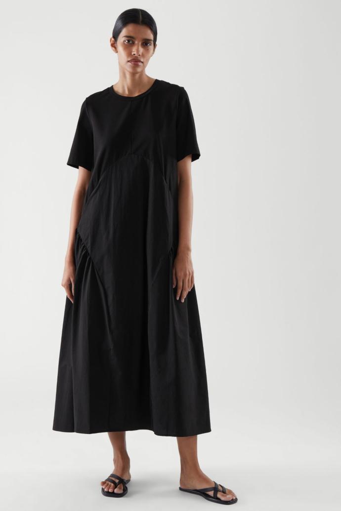 μαύρο μάξι φόρεμα