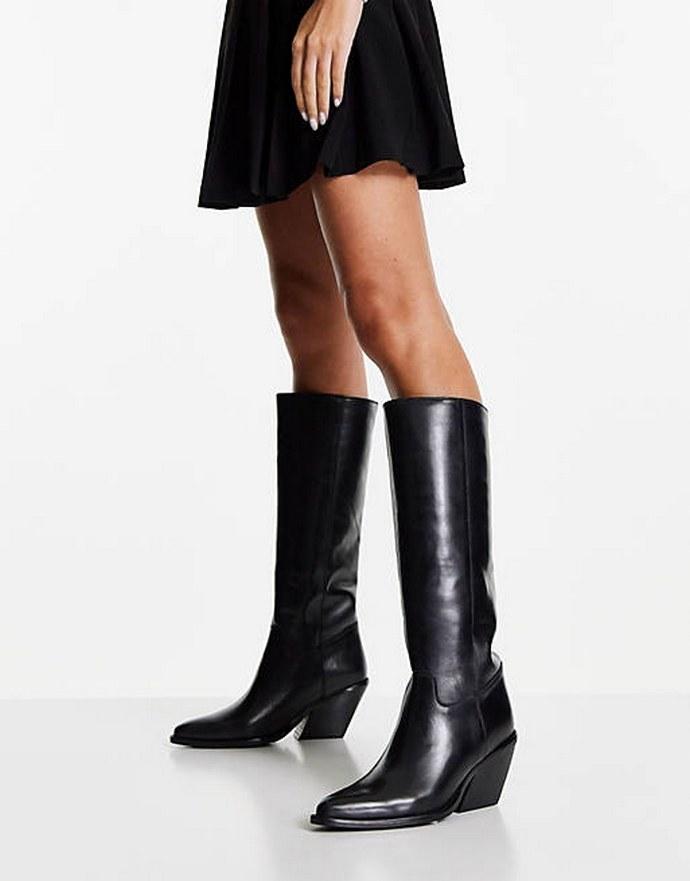 Μπότες με block heel
