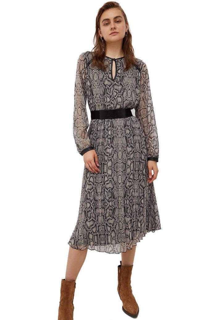 Πλισέ φόρεμα σε animal print