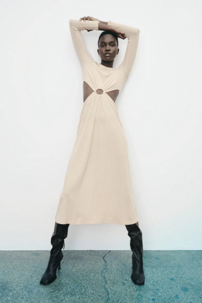 Πλεκτό cut out φόρεμα