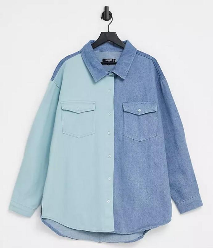 Color block πουκάμισο