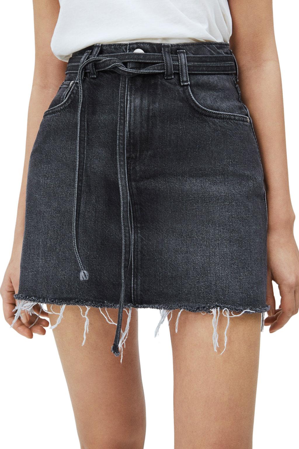 Μίνι φούστα με ζώνη