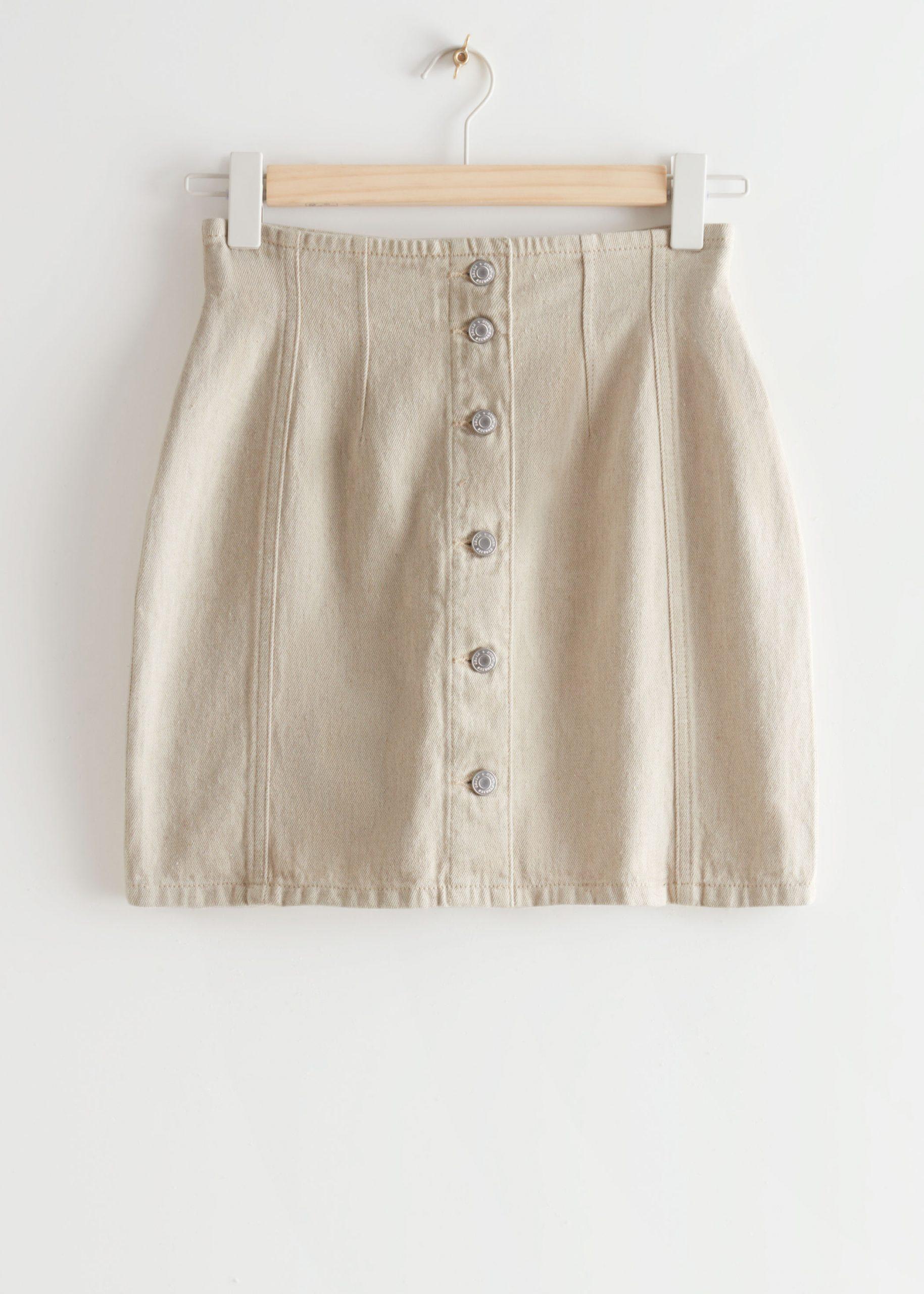 Μίνι button-up φούστα
