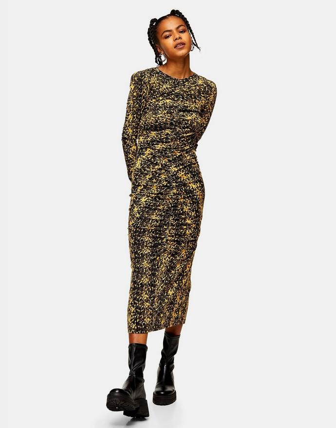 Μίντι φόρεμα σε animal print