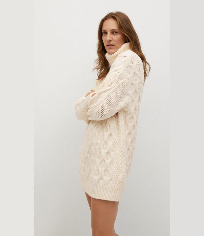 Πλεκτό ζιβάγκο φόρεμα