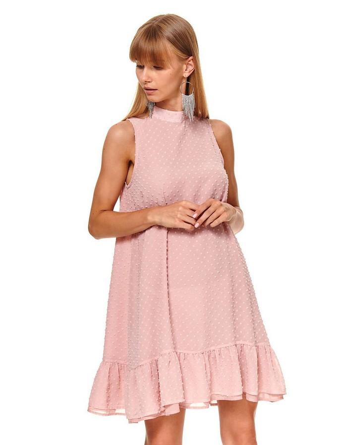 Μίνι φόρεμα με ψηλό γιακά