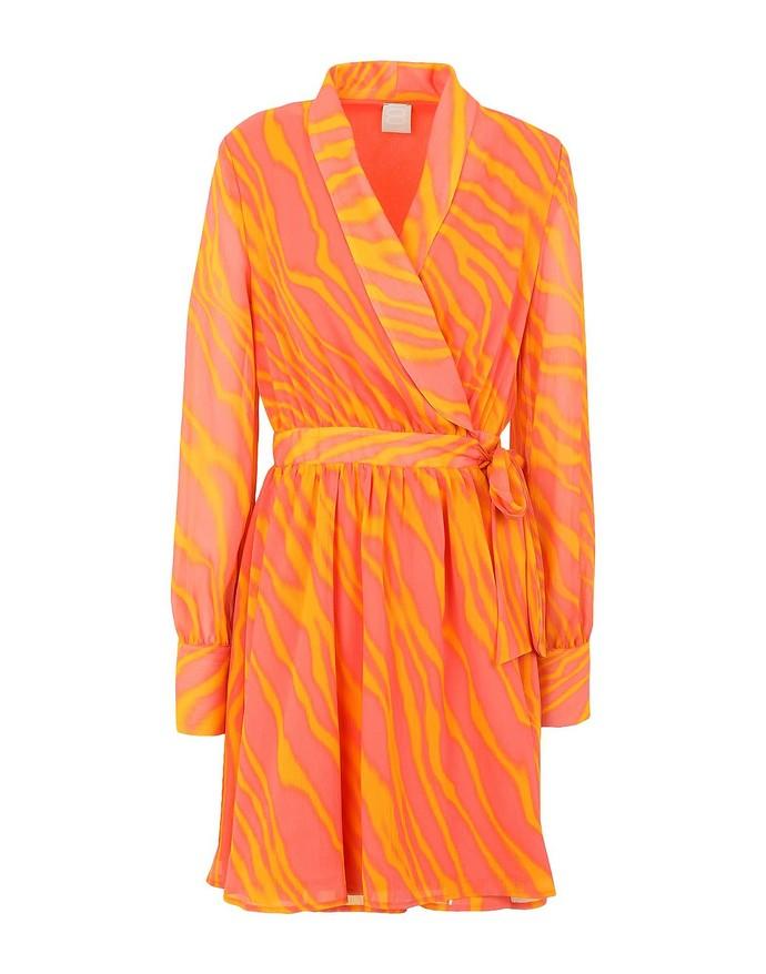 Printed κρουαζέ φόρεμα