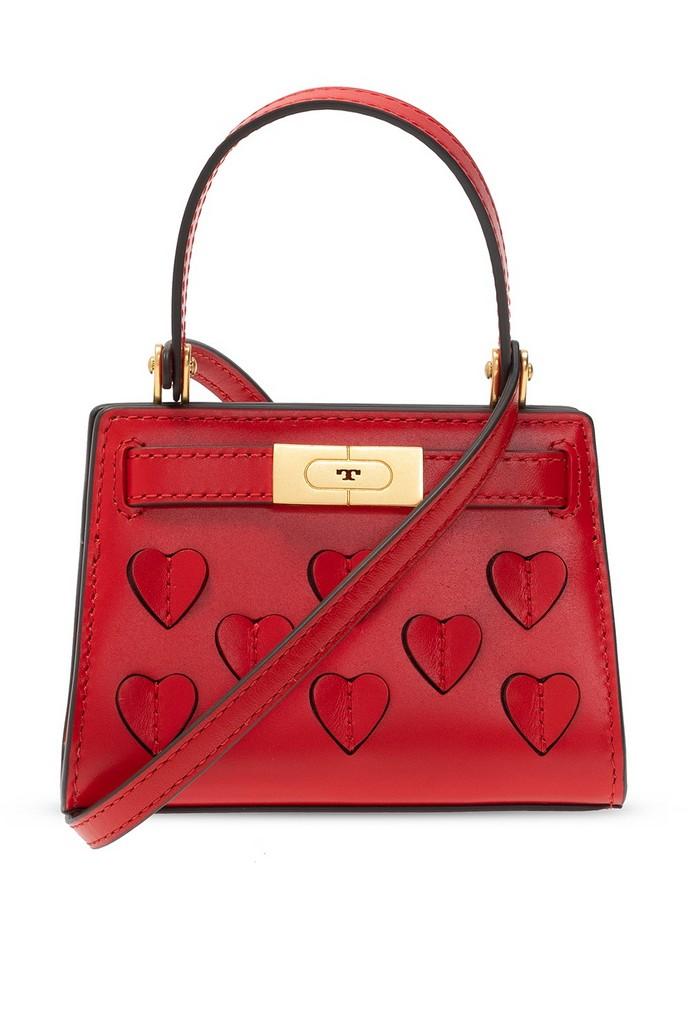 Τσάντα χειρός με 3D καρδιές