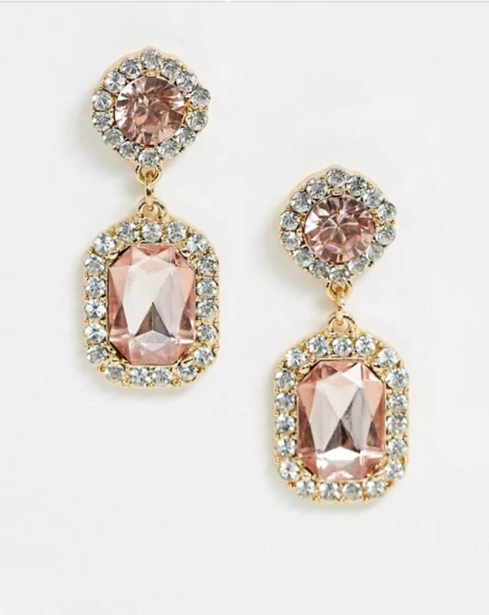 Drop earrings με πετράδια
