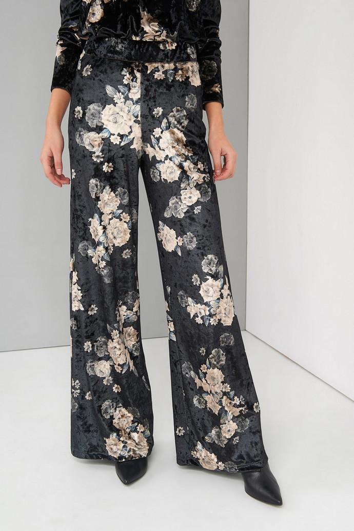 Βελούδινη φλοράλ παντελόνα