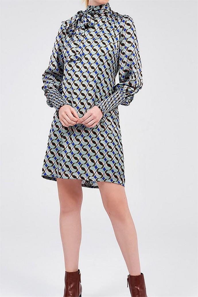 Μίνι φόρεμα με γεωμετρικά σχέδια