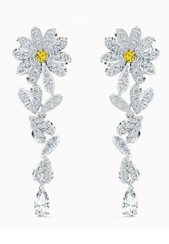 Φλοράλ drop earrings