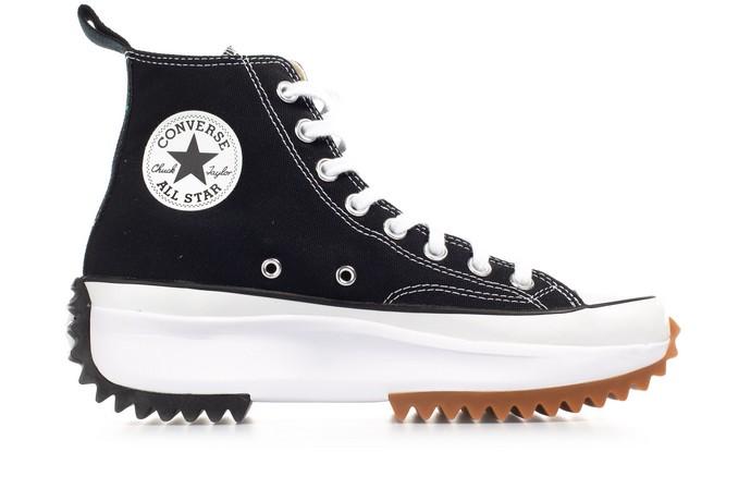 Ηi-top sneakers με τρακτερωτή σόλα