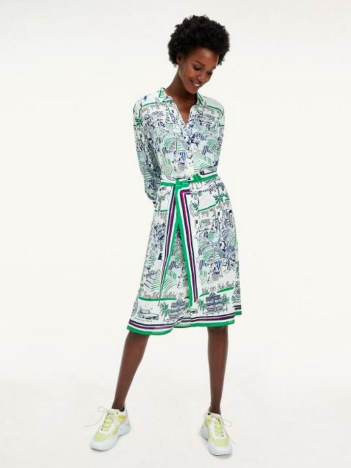 Μεταξωτό printed φόρεμα