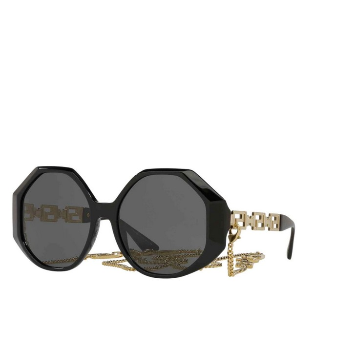 Οversized γυαλιά ηλίου με αλυσίδα