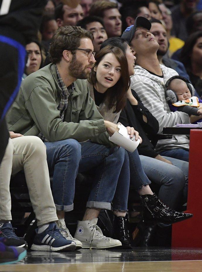 η Emma Stone και ο Dave McCary το 2019